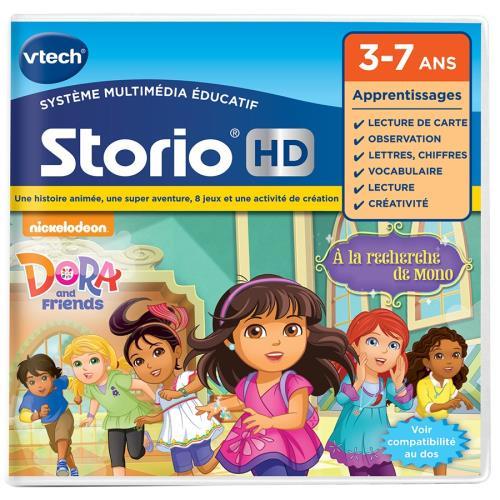 STORIO - Jeu éducatif HD « Dora and Friends » - 3 - 7 ans Compatible avec toutes les tablettes Storio (sauf Storio 1) et la console Storio TV. Cartouche comprenant 1 histoire animée, 8 jeux éducatifs et 1 activité créative en compagnie de Dora et de ses a