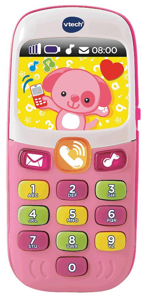 Baby Smartphone bilingue rose : 6 - 36 mois Bébé découvre de joyeuses mélodies et des chansons en jouant à téléphoner comme les grands ! Des effets lumineux attirent l´oil de Bébé et l´incitent à jouer, comme le chien et le chat en hologramme. Il découvre