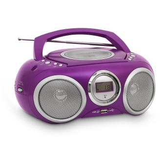 lecteur cd portable violet mp3 usb jouet multim dia. Black Bedroom Furniture Sets. Home Design Ideas
