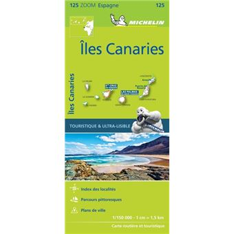 carte iles canaries michelin broch collectif michelin. Black Bedroom Furniture Sets. Home Design Ideas