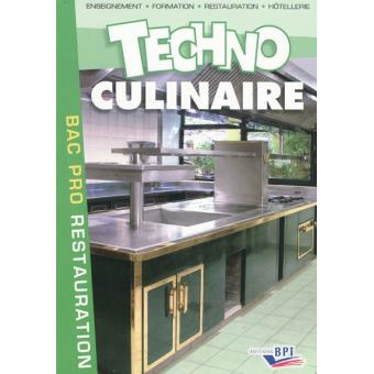 Technologie culinaire bac pro broch michel maincent for Technologie cuisine bac pro