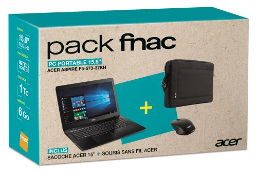 acer pack fnac pc portable aspire f5 573 37kh 15 6 ordinateurpascher. Black Bedroom Furniture Sets. Home Design Ideas