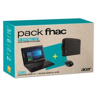 pack fnac pc portable acer aspire f5 573 37kh 15 6 housse 15 souris ordinateur portable. Black Bedroom Furniture Sets. Home Design Ideas