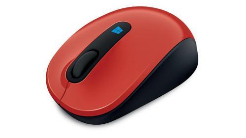 Souris sans fil Microsoft Sculpt Mobile Rouge.