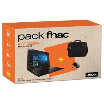 pack fnac pc portable lenovo g70 35 17 3 souris sans. Black Bedroom Furniture Sets. Home Design Ideas