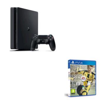 console sony ps4 slim 1 to fifa 17 ps4 console de jeux. Black Bedroom Furniture Sets. Home Design Ideas