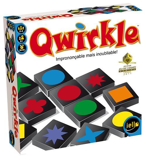 Quelques secondes suffisent pour apprendre à jouer à Qwirkle ! Chaque joueur essaye de marquer le maximum de points en constituant des lignes de formes ou de couleurs identiques. Mais si les règles sont simples, la victoire passe par une audace tactique e