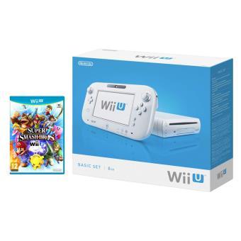 Pack nintendo console wii u basic blanc super smash bros - Console wii prix carrefour ...