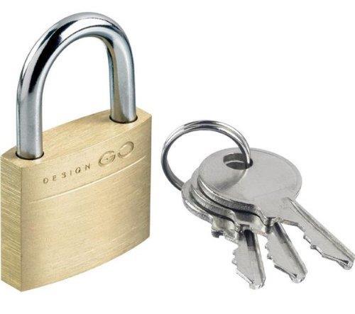 Cadenas à clés Go Travel 25 mm en Laiton pour 6€