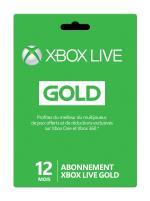 Carte pré-payée Microsoft Xbox Live Gold 12 Mois
