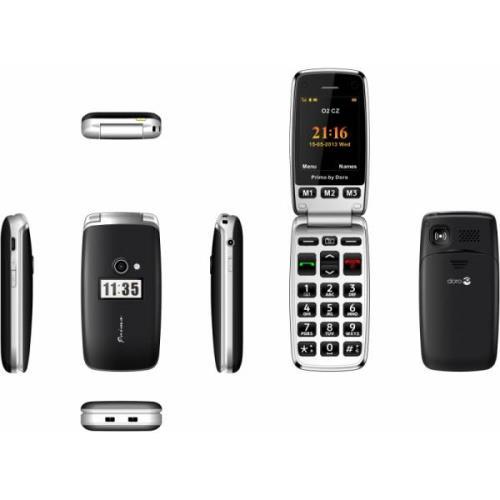 photo Téléphone mobile Doro Primo 413 Noir - Téléphone mobile sans abonnement