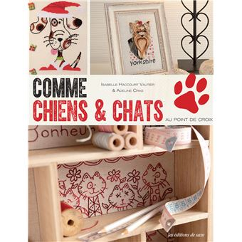 comme chiens et chats au point de croix broch. Black Bedroom Furniture Sets. Home Design Ideas