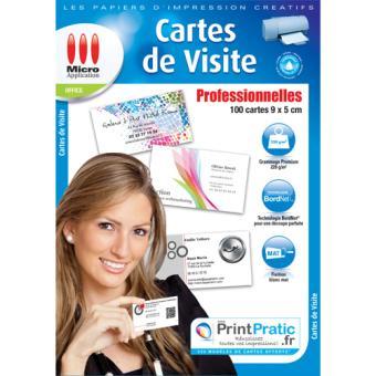 micro application cartes de visite professionnelles papier pour imprimante achat prix fnac. Black Bedroom Furniture Sets. Home Design Ideas