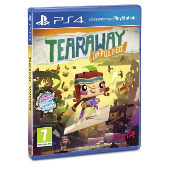 tearaway unfolded ps4 sur playstation 4 jeux vid o top prix. Black Bedroom Furniture Sets. Home Design Ideas