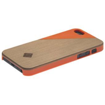 Coque Native Clic Wooden Case pour iPhone 5 & 5s, Merisier/Terracota