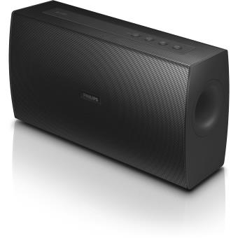 enceinte bluetooth philips bt4000b 12 noire mini. Black Bedroom Furniture Sets. Home Design Ideas