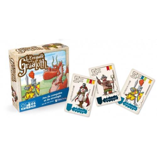 La bataille s´annonce engagée entre les Lions de Lothar et les Ecorcheurs du Nord pour la conquête des châteaux de Grââloth. Issu de la gamme Drôles de Jeux, ce jeu repose essentiellement sur la stratégie. Idéal pour les enfants de sept ans et plus, il pl