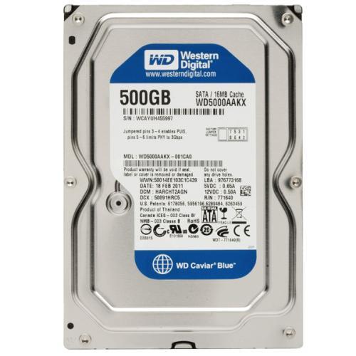 Western Digital : Disque dur interne - Capacité 500 Go - Format 3,5