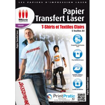 Micro application papier transfert laser textiles clairs - Transfert sur t shirt ...