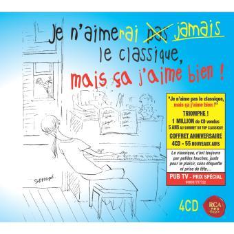 Je n'aimerai jamais le classique mais ça j'aime bien ! Coffret 4 CD Compilation musique