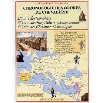 chronologie des ordres de chevalerie tome 2 cartonn maurice griffe achat livre achat. Black Bedroom Furniture Sets. Home Design Ideas