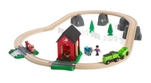 Seul ou en complément d´un autre circuit, le circuit ferme équestre est idéal. Le train est spécialement équipé pour le transport du cheval. Ce circuit inclut un box à chevaux, un passage à niveau, des supports de pont en forme de rocher (pour surélever c