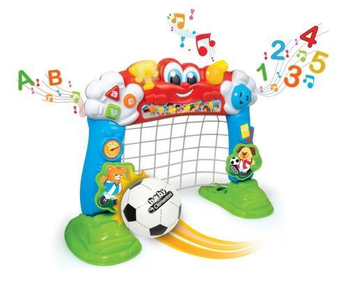 Un but de foot pensé pour les plus petits pour jouer et s´amuser ! En tirant dans le but, les enfants développent leur adresse ! De plus, grâce au capteur optique situé à l´intérieur du but, Tiboot leur apprend les premiers nombres jusqu´à 5 et compte à v