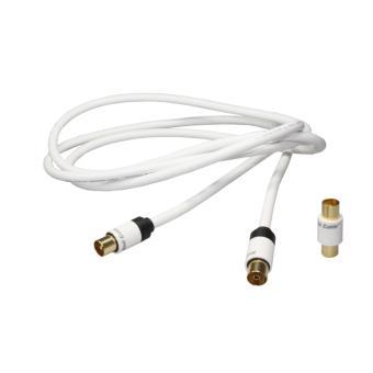 cable antenne tv real adaptateur m le m le 1 5 m accessoire tv vid o achat prix fnac. Black Bedroom Furniture Sets. Home Design Ideas