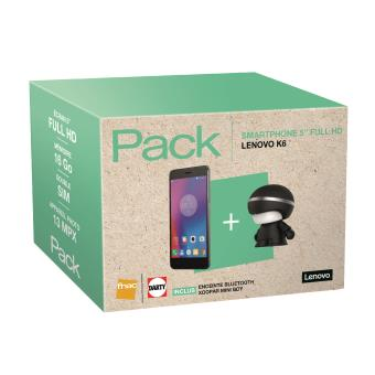 pack fnac smartphone lenovo k6 double sim 16 go enceinte. Black Bedroom Furniture Sets. Home Design Ideas