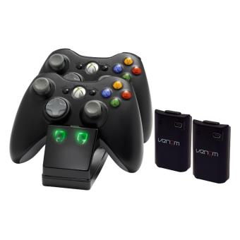 station de recharge venom xbox 360 avec 2 batteries accessoire console de jeux achat prix fnac. Black Bedroom Furniture Sets. Home Design Ideas