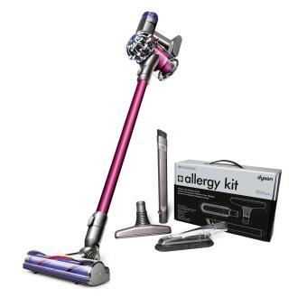aspirateur balai dyson v6 motorhead violet et bleu kit. Black Bedroom Furniture Sets. Home Design Ideas