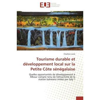 Tourisme durable et développement local sur la petite côte sénégalaise