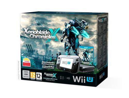 Pack Premium Console Nintendo Wii U 32 Go Noire Xenoblade Chronicles X