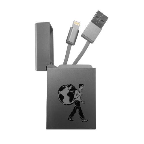 Image accompagnant le produit Câble rétractable de voyage pour iPhone Le Routard