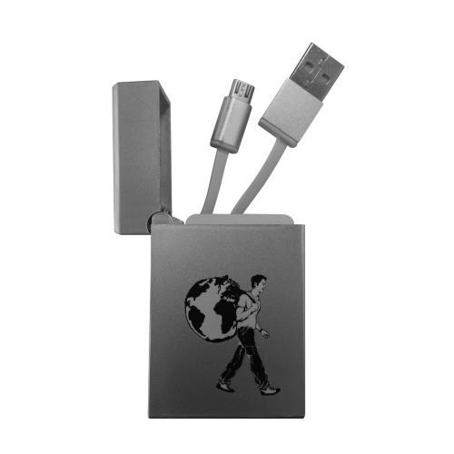Image accompagnant le produit Câble rétractable de voyage Micro USB Le Routard