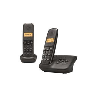 t l phone fixe sans fil gigaset a150 a duo noir. Black Bedroom Furniture Sets. Home Design Ideas