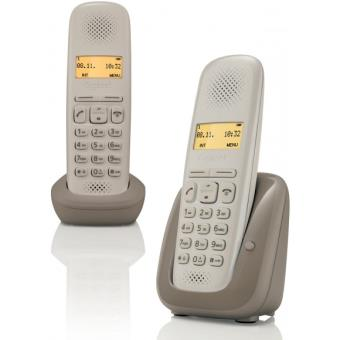 t l phone fixe sans fil gigaset a150 duo umbra t l phone. Black Bedroom Furniture Sets. Home Design Ideas