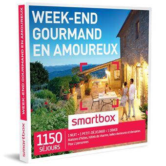 coffret cadeau smartbox week end gourmand en amoureux coffrets cadeaux achat prix fnac. Black Bedroom Furniture Sets. Home Design Ideas