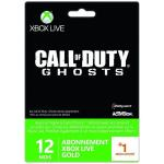Carte pré-payée Microsoft Xbox Live Gold Call of Duty Ghost 12 Mois + 1 Mois