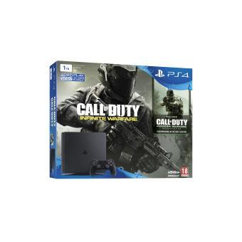 Console Sony PS4 1 To Slim Noir + Call of Duty Infinite Warfare + Modern Warfare en téléchargement