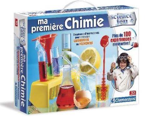 Ce coffret permettra aux enfants de réaliser plus de 100 expériences de première chimie et de découvrir la base de la chimie (tableau périodique des éléments.), les acides, les réactions chimiques, le lien entre chimie et électricité, la nourriture et la