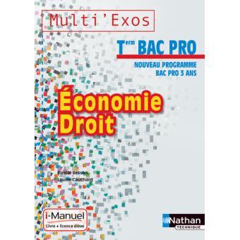 Eco droit term bac pro (me) li