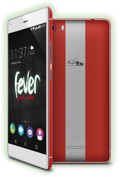 Smartphone Wiko Fever Edition Spéciale 32 Go Paprika