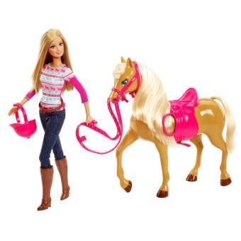 Poup e barbie et son cheval poup e achat prix fnac - Jeux de barbie avec son cheval ...