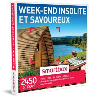 coffret cadeau smartbox week end insolite et savoureux coffrets cadeaux achat prix fnac. Black Bedroom Furniture Sets. Home Design Ideas