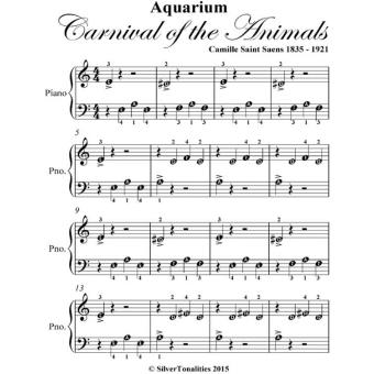 aquarium carnival of the animals beginner piano sheet epub silver tonalities achat