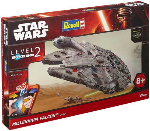 Reproduis le Falcon Millenium de STAR WARST avec cette maquette qui dispose de pièces prépeintes, à assembler, sans colle. Dès 8 ans.