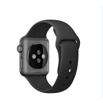 bracelet sport 38 mm apple pour apple watch noir autre. Black Bedroom Furniture Sets. Home Design Ideas