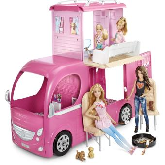 poup e barbie avec accessoires camping car duplex poup e. Black Bedroom Furniture Sets. Home Design Ideas