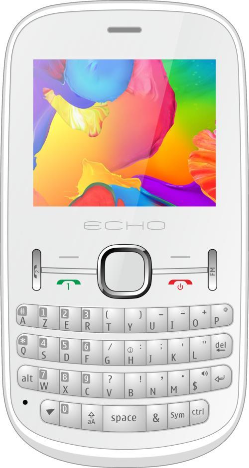 Téléphone mobile Echo Piano Double SIM Blanc